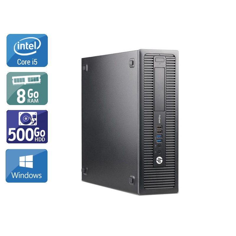 HP ProDesk 600 G1 SFF i5 8Go RAM 500Go HDD Windows 10