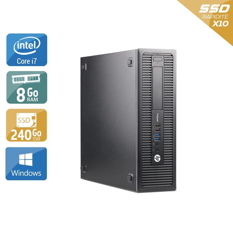 HP ProDesk 600 G1 SFF i7 8Go RAM 240Go SSD Windows 10
