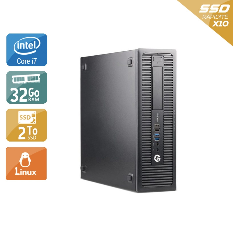 HP ProDesk 600 G1 SFF i7 32Go RAM 2To SSD Linux