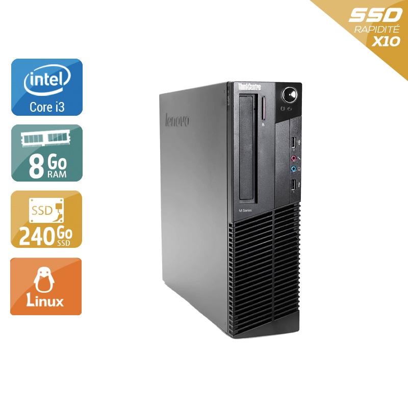 Lenovo ThinkCentre M91 USFF i3 8Go RAM 240Go SSD Linux
