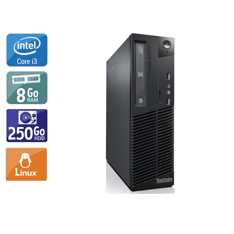 Lenovo ThinkCentre M82 SFF i3 8Go RAM 250Go HDD Linux
