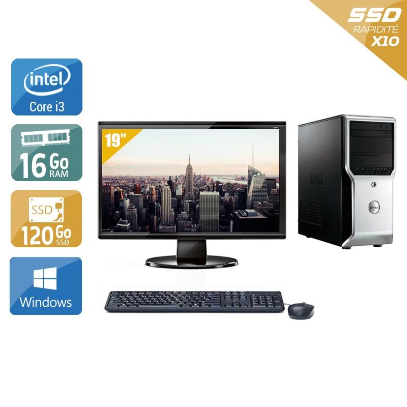 Dell Précision T1500 Tower i3 avec Écran 19 pouces 16Go RAM 120Go SSD Windows 10