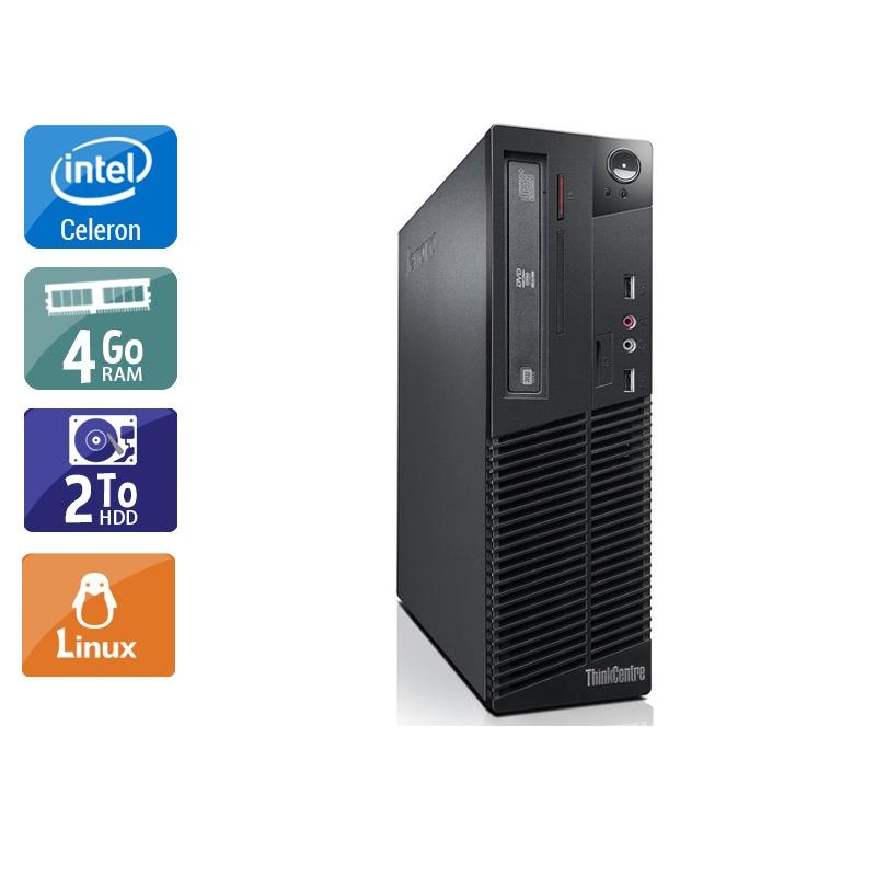 Lenovo ThinkCentre M82 SFF Celeron Dual Core 4Go RAM 2To HDD Linux