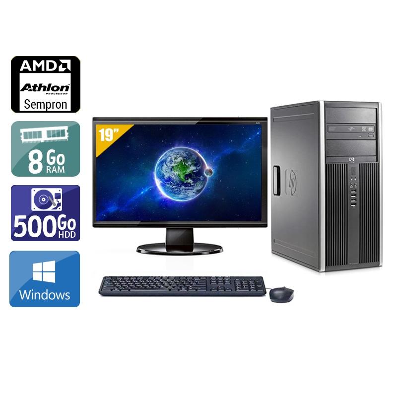 HP Compaq dc5750 Tower AMD Sempron avec Écran 19 pouces 8Go RAM 500Go HDD Windows 10