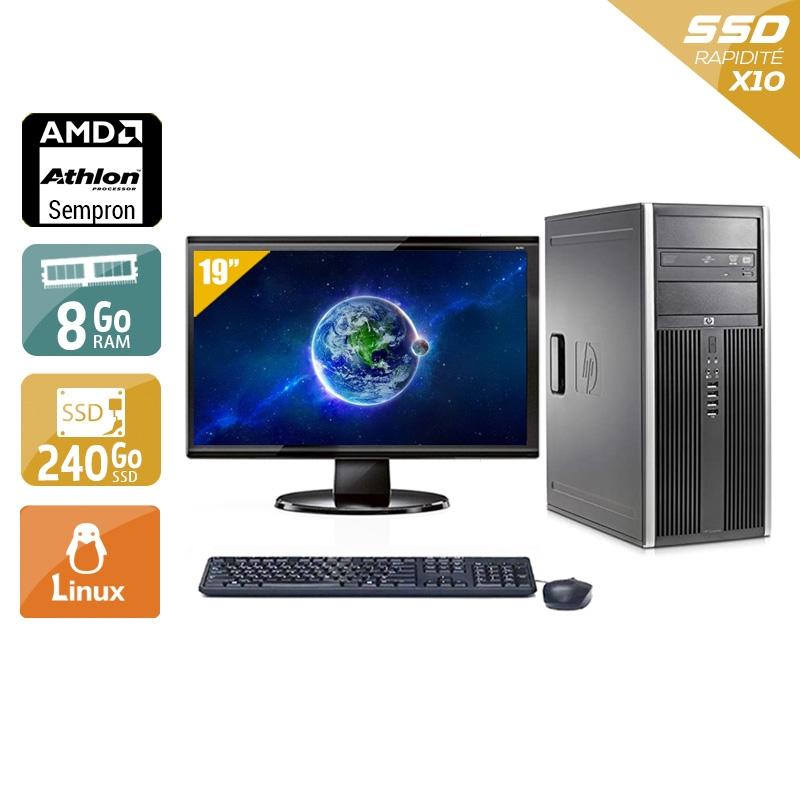 HP Compaq dc5750 Tower AMD Sempron avec Écran 19 pouces 8Go RAM 240Go SSD Linux