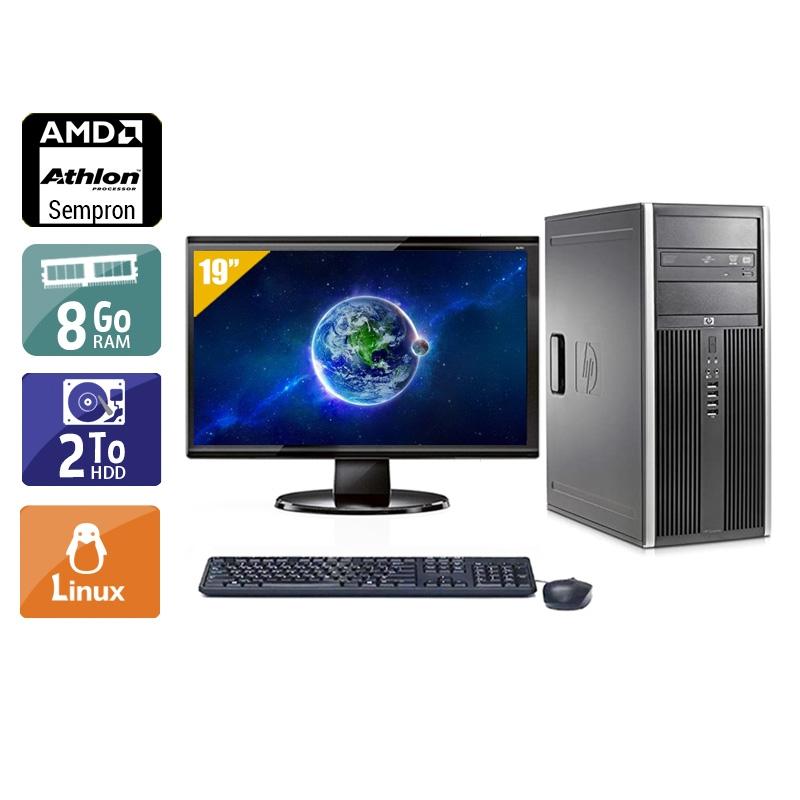 HP Compaq dc5750 Tower AMD Sempron avec Écran 19 pouces 8Go RAM 2To HDD Linux