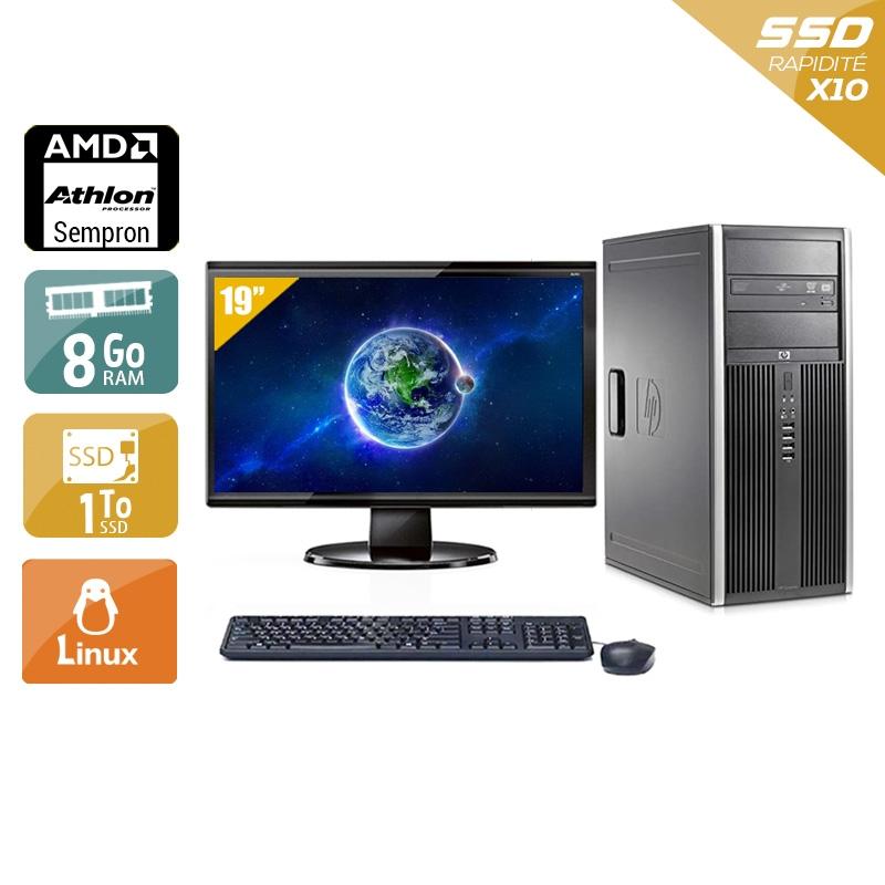 HP Compaq dc5750 Tower AMD Sempron avec Écran 19 pouces 8Go RAM 1To SSD Linux