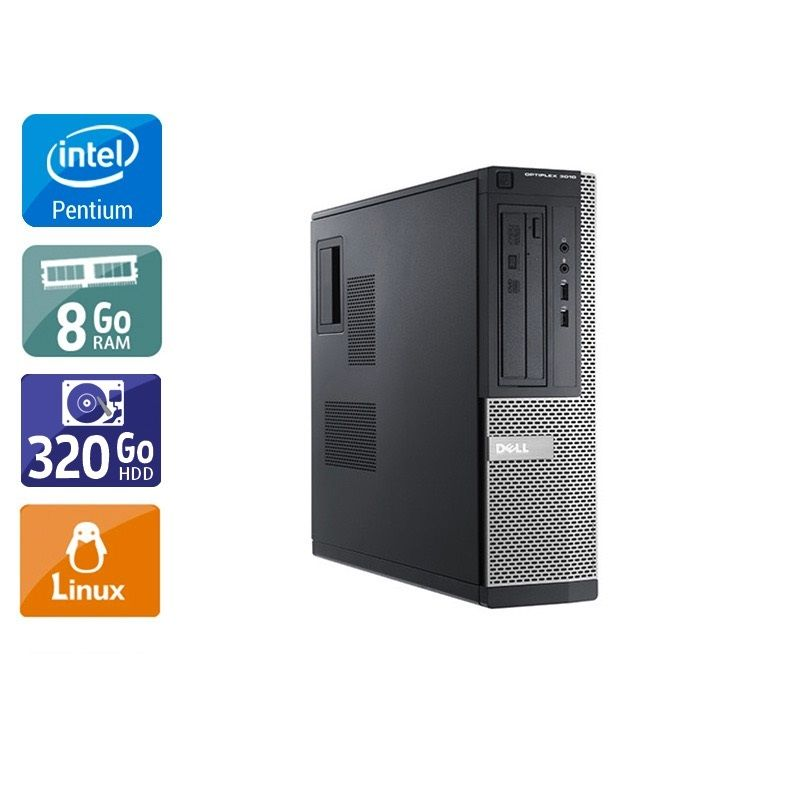 Dell Optiplex 3010 Desktop Pentium G Dual Core - 8Go RAM 320Go HDD Linux