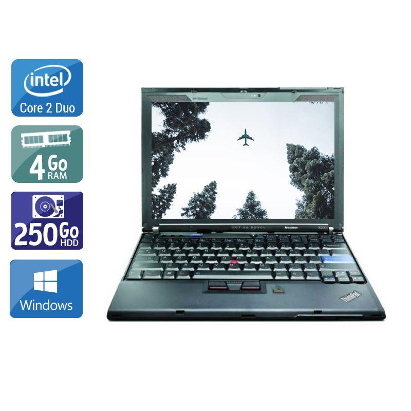 Lenovo ThinkPad X200S Core 2 Duo - 4Go RAM 250Go HDD Windows 10