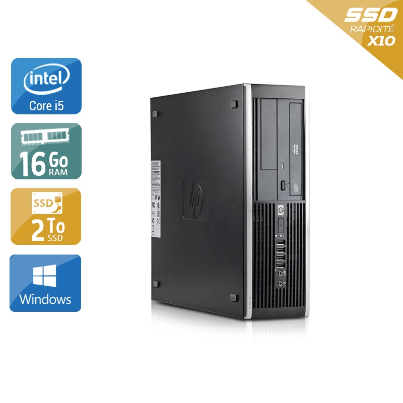 HP Compaq Elite 8100 SFF i5 16Go RAM 2To SSD Windows 10