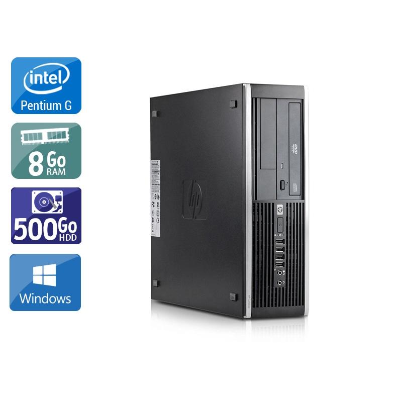 HP Compaq Elite 8100 SFF Pentium G Dual Core 8Go RAM 500Go HDD Windows 10