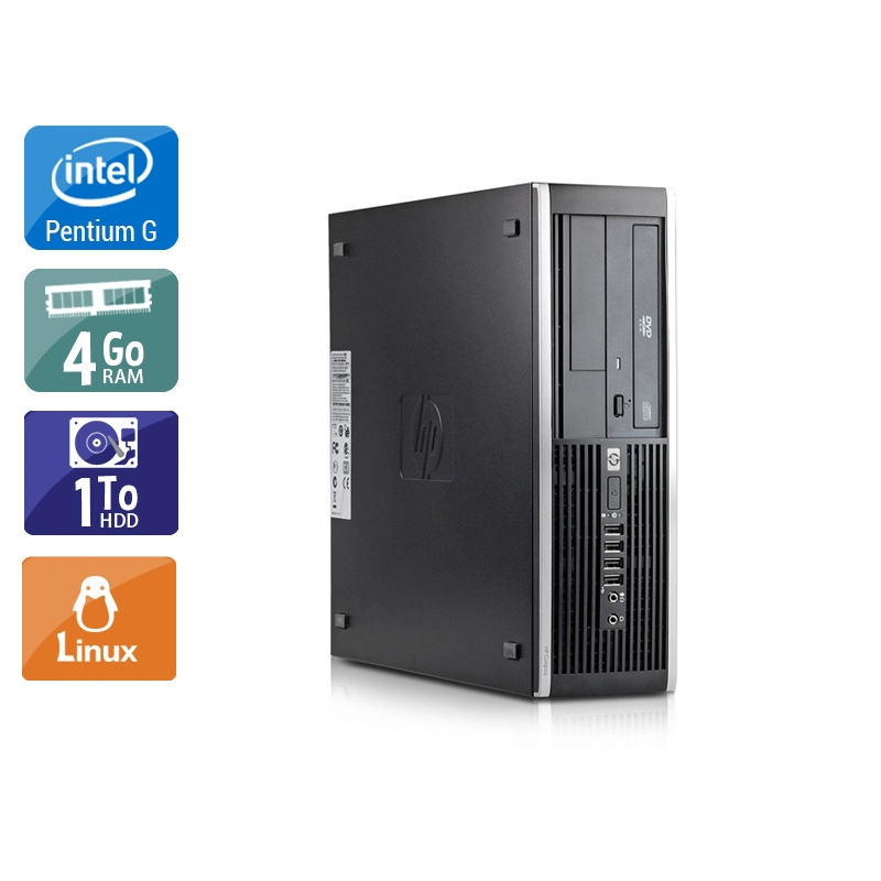 HP Compaq Elite 8100 SFF Pentium G Dual Core 4Go RAM 1To HDD Linux