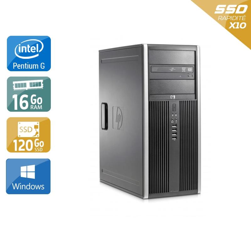 HP Compaq Elite 8100 Tower Pentium G Dual Core 16Go RAM 120Go SSD Windows 10