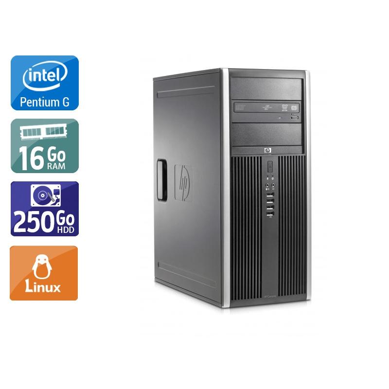 HP Compaq Elite 8100 Tower Pentium G Dual Core 16Go RAM 250Go HDD Linux