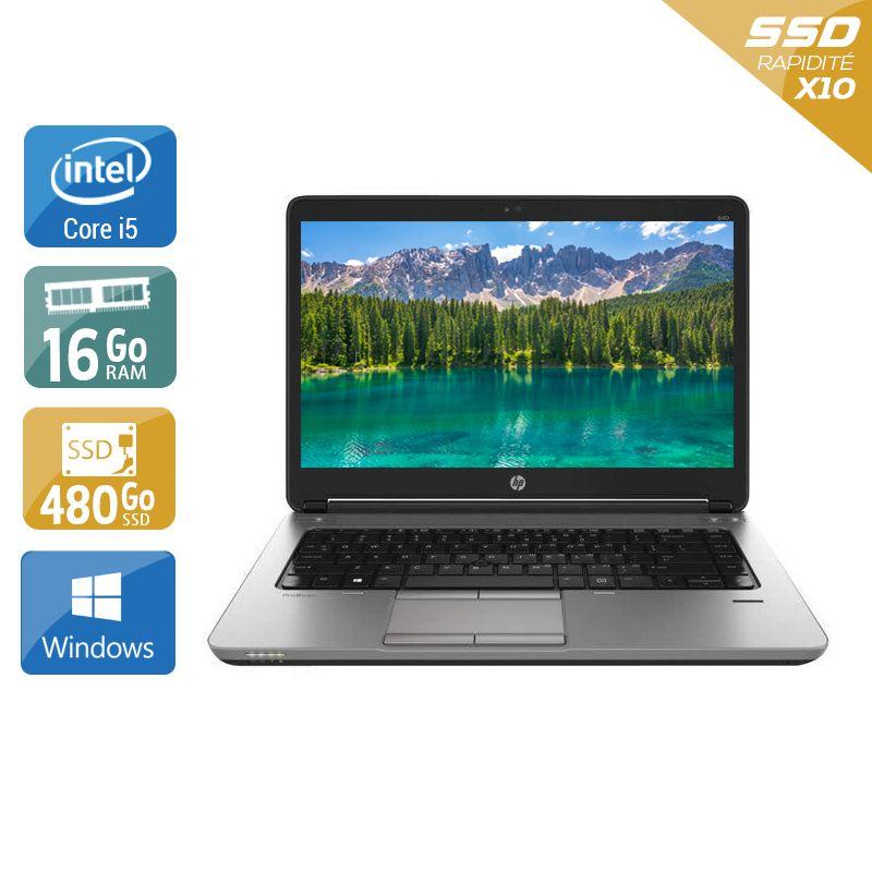 HP ProBook 640 G1 i5 - 16Go RAM 480Go SSD Windows 10