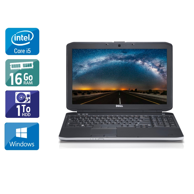 Dell Latitude E6230 i5 16Go RAM 1To HDD Windows 10