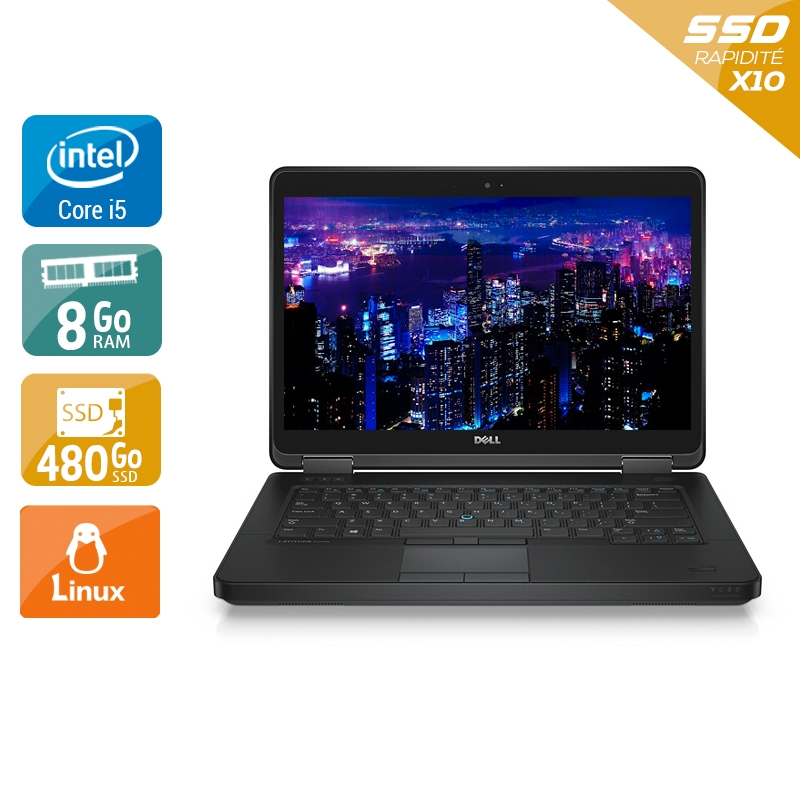 Dell Latitude E5440 i5 8Go RAM 480Go SSD Linux