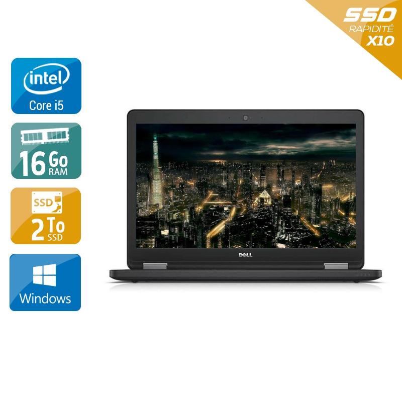 Dell Latitude E5450 i5 16Go RAM 2To SSD Windows 10