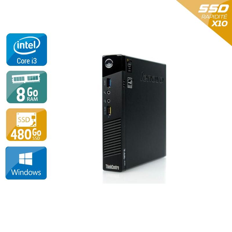 Lenovo ThinkCentre M73 Tiny i3 8Go RAM 480Go SSD Windows 10