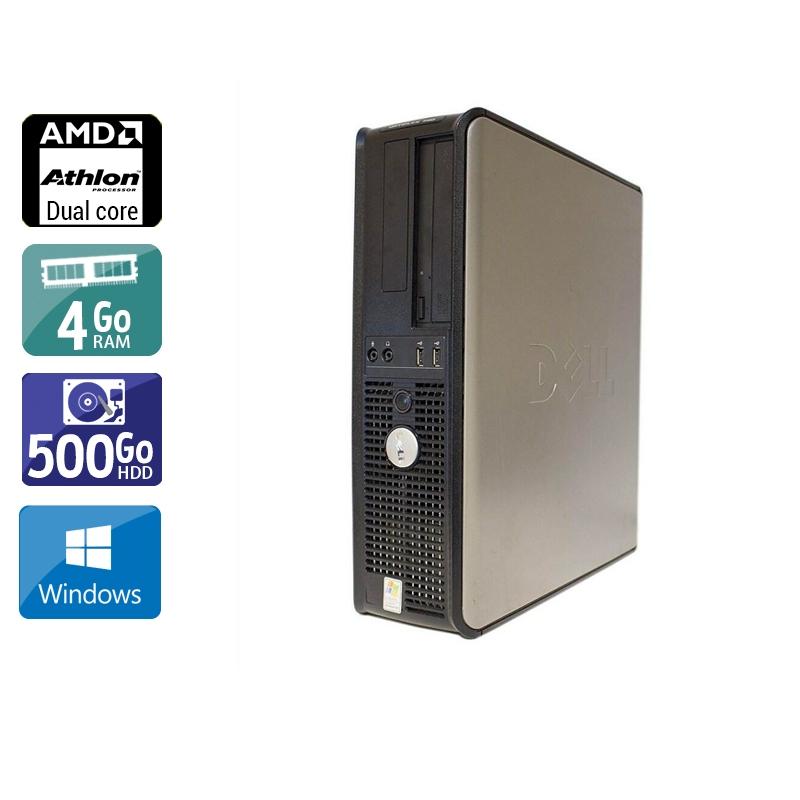 Dell Optiplex 740 Desktop AMD Athlon Dual Core 4Go RAM 500Go HDD Windows 10