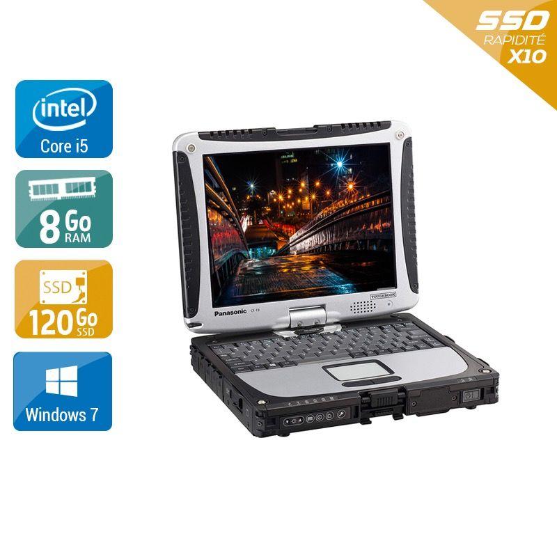 Panasonic ToughBook CF 19 i5 - 8Go RAM 120Go SSD Windows 7