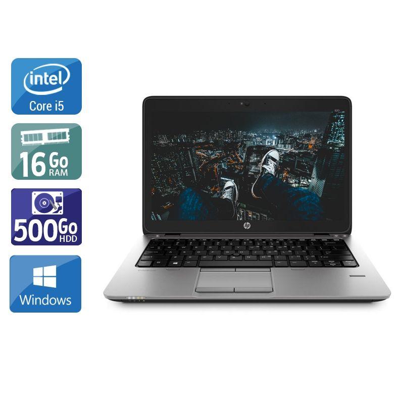 HP EliteBook 820 G1 i5 16Go RAM 500Go HDD Windows 10