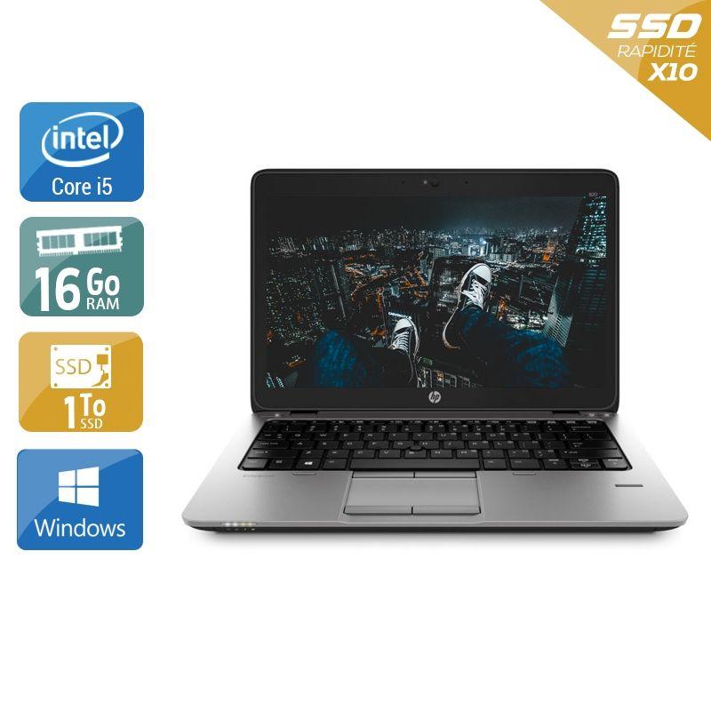 HP EliteBook 820 G1 i5 16Go RAM 1To SSD Windows 10
