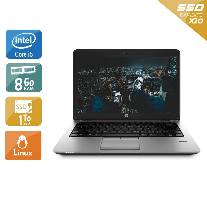 HP EliteBook 820 G1 i5 8Go RAM 1To SSD Linux