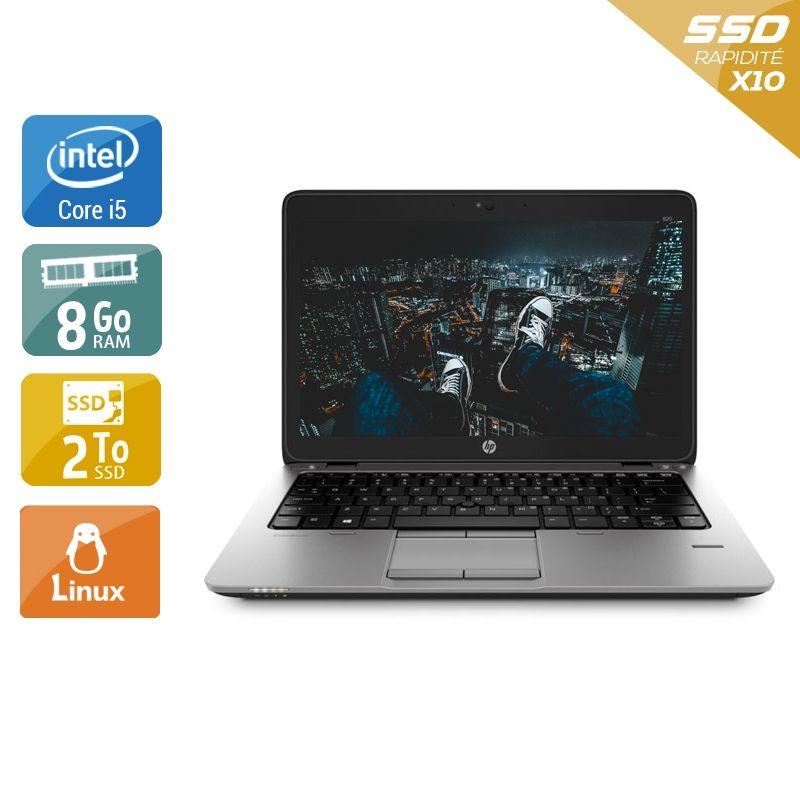 HP EliteBook 820 G1 i5 8Go RAM 2To SSD Linux