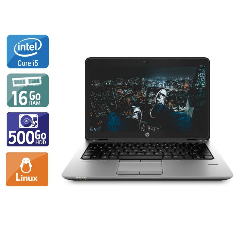 HP EliteBook 820 G1 i5 16Go RAM 500Go HDD Linux
