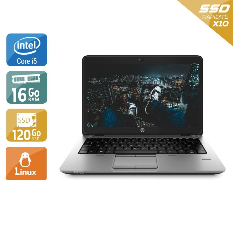HP EliteBook 820 G1 i5 16Go RAM 120Go SSD Linux