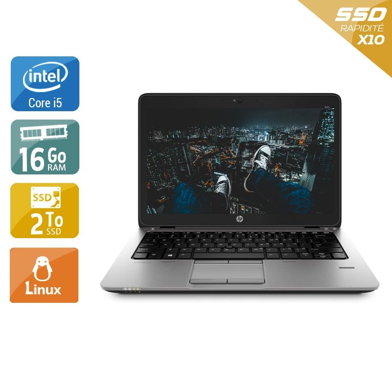 HP EliteBook 820 G1 i5 16Go RAM 2To SSD Linux