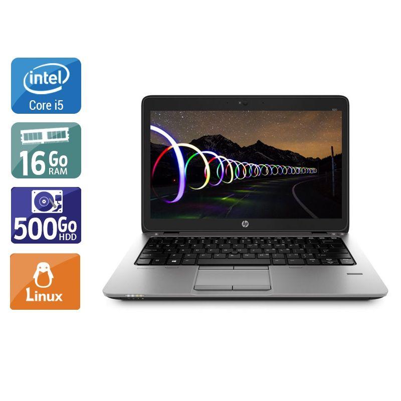 HP EliteBook 820 G2 i5 16Go RAM 500Go HDD Linux
