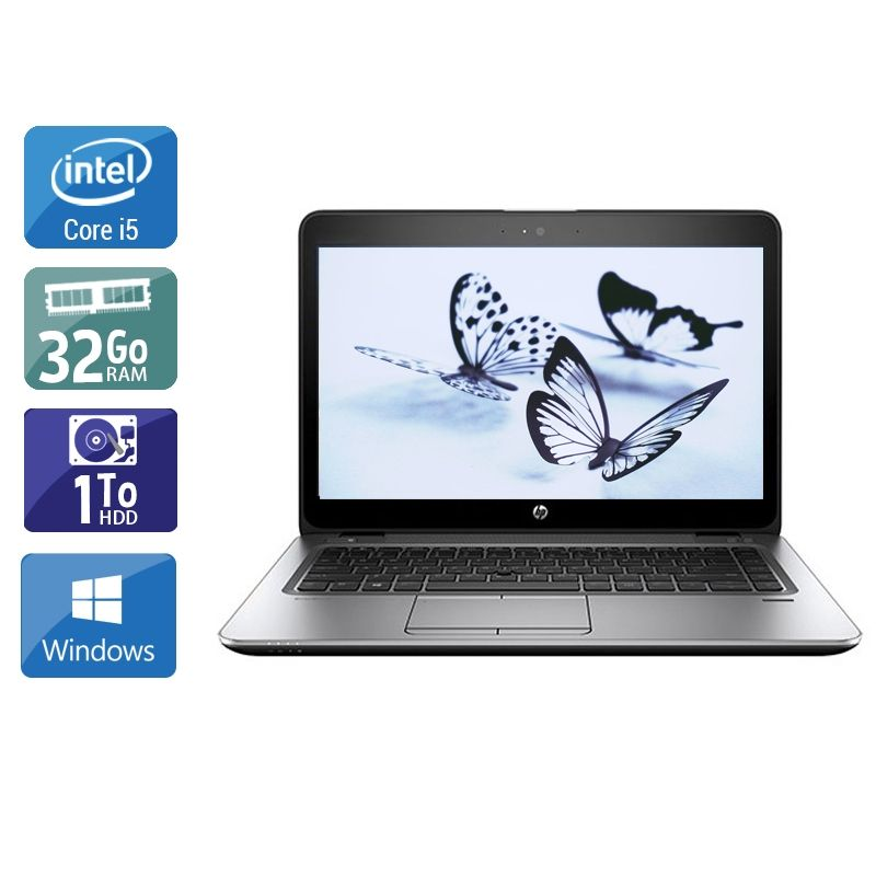 HP EliteBook 840 G3 i5 32Go RAM 1To HDD Windows 10
