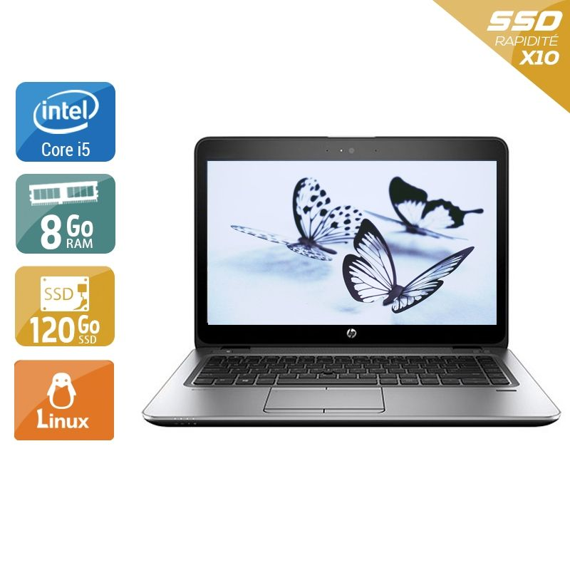 HP EliteBook 840 G3 i5 8Go RAM 120Go SSD Linux