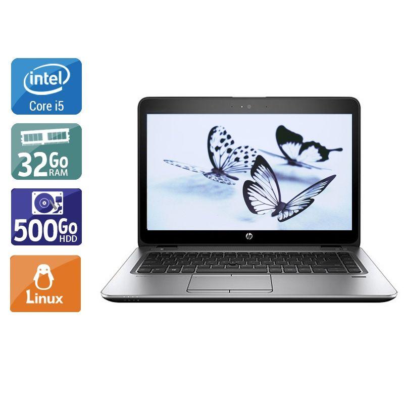 HP EliteBook 840 G3 i5 32Go RAM 500Go HDD Linux