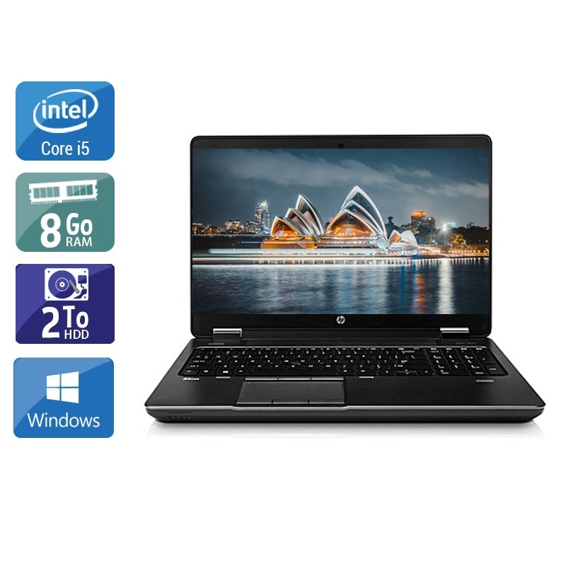 HP ZBook 15 G1 i5 8Go RAM 2To HDD Windows 10
