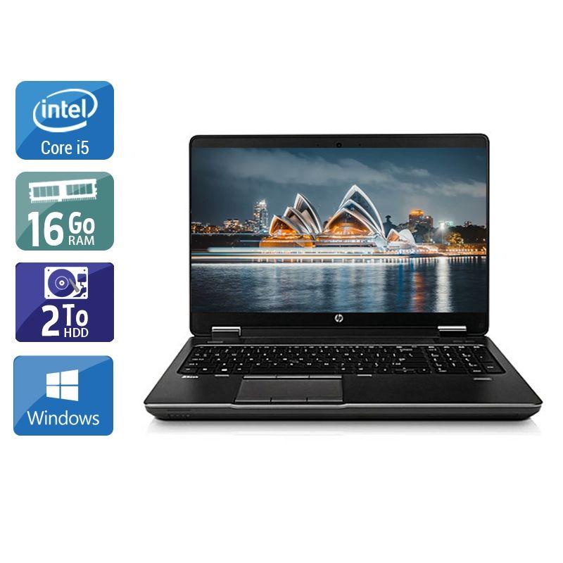 HP ZBook 15 G1 i5 16Go RAM 2To HDD Windows 10