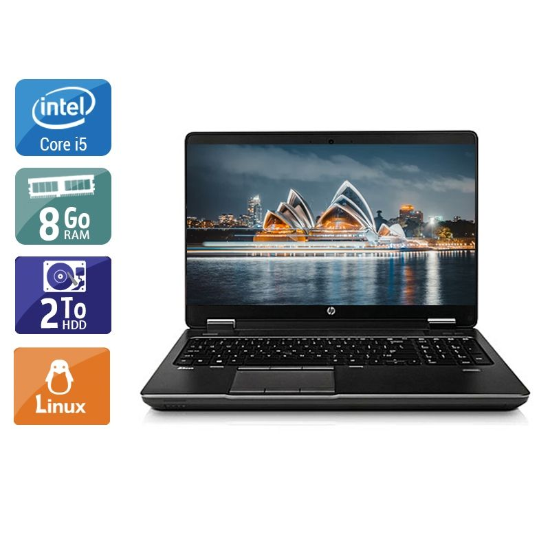 HP ZBook 15 G1 i5 8Go RAM 2To HDD Linux