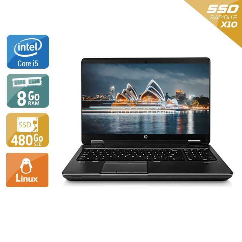 HP ZBook 15 G1 i5 8Go RAM 480Go SSD Linux