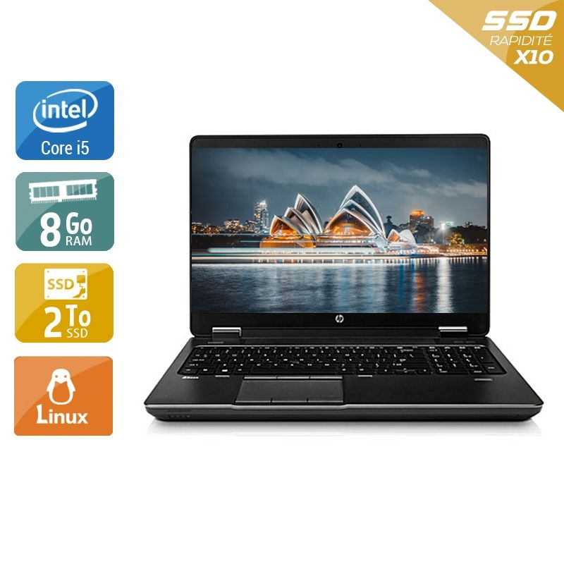 HP ZBook 15 G1 i5 8Go RAM 2To SSD Linux