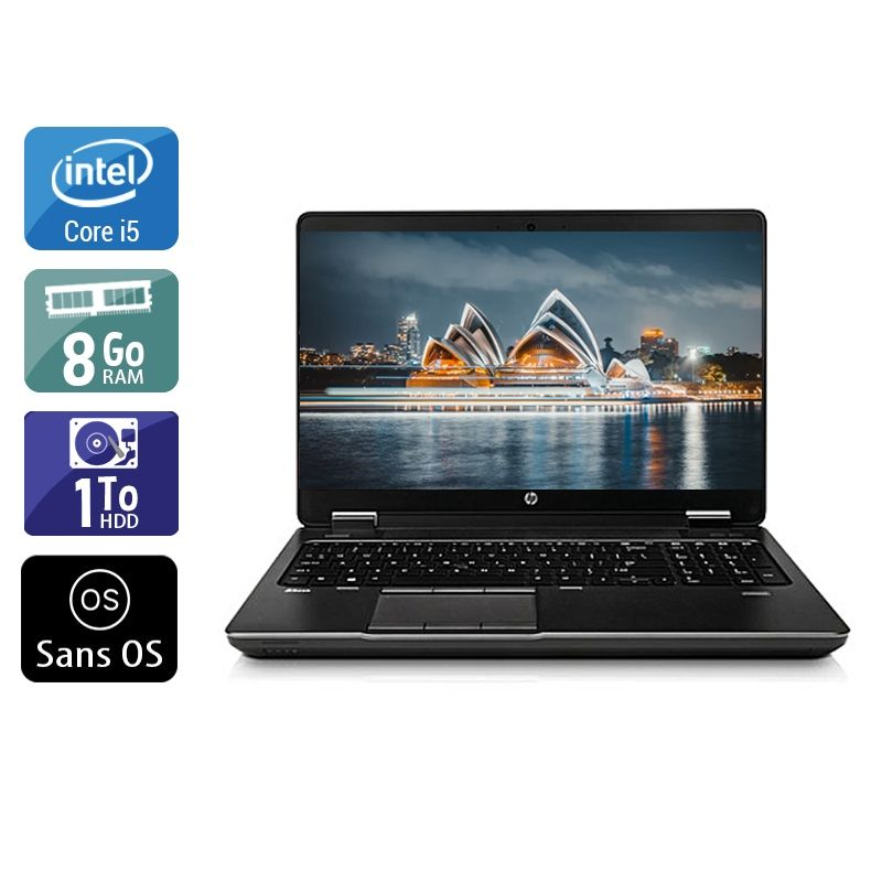 HP ZBook 15 G1 i5 8Go RAM 1To HDD Sans OS