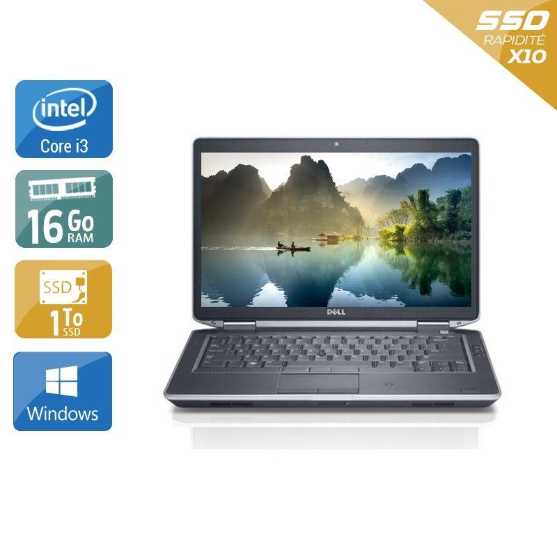 Dell Latitude E5430 i3 16Go RAM 1To SSD Windows 10