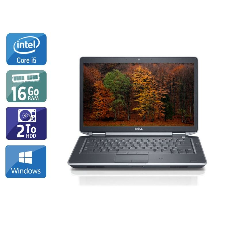 Dell Latitude E5430 i5 16Go RAM 2To HDD Windows 10