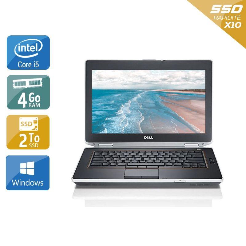 Dell Latitude E6420 i5 4Go RAM 2To SSD Windows 10