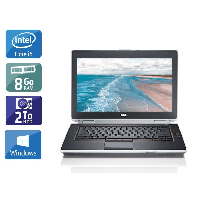 Dell Latitude E6420 i5 8Go RAM 2To HDD Windows 10