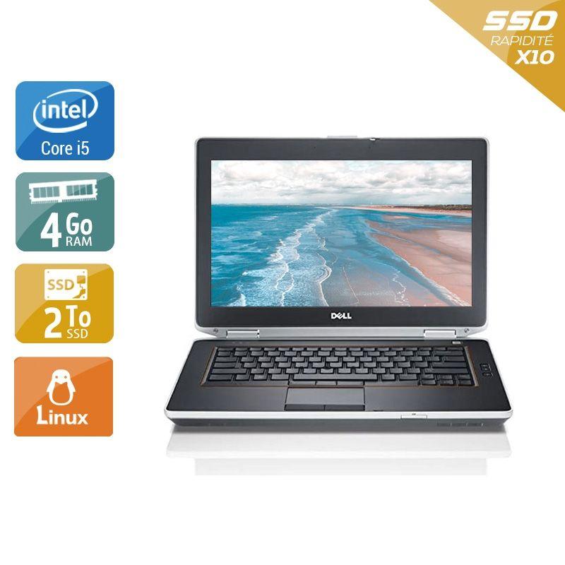 Dell Latitude E6420 i5 4Go RAM 2To SSD Linux