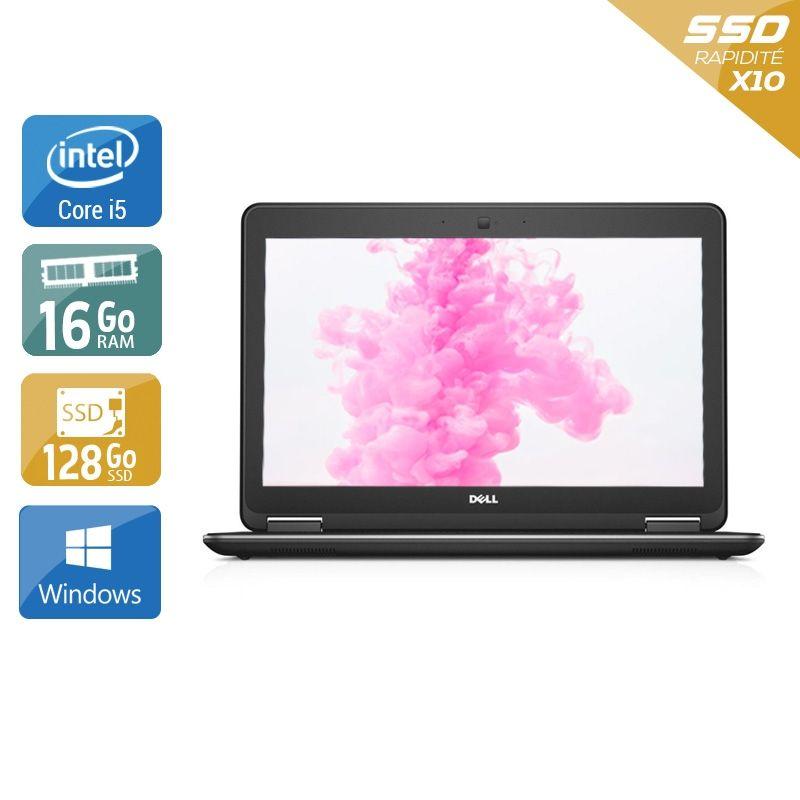 Dell Latitude E7240 i5 16Go RAM 128Go SSD Windows 10