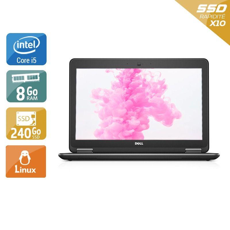 Dell Latitude E7240 i5 8Go RAM 240Go SSD Linux