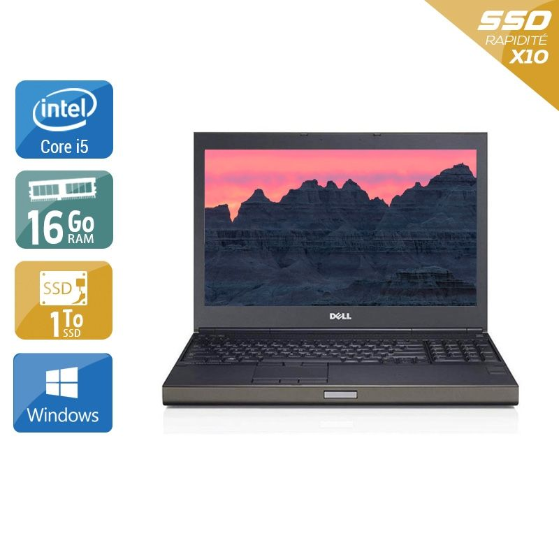 Dell Précision M4800 i5 32Go RAM 1To SSD Windows 10